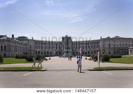 Vienna / Austria - July 20th 2014: Hofburg Neue Burg building