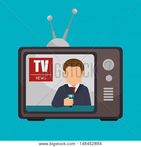 tv news anchorman broadcast graphic vector illustration eps 10