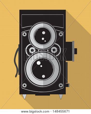 Vector Image Of Vintage Photo Camera