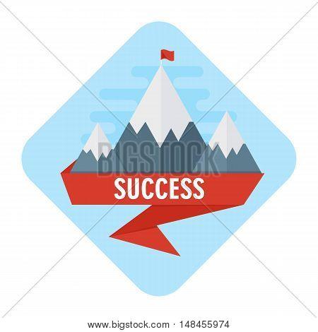 Vector Mountain Of Success