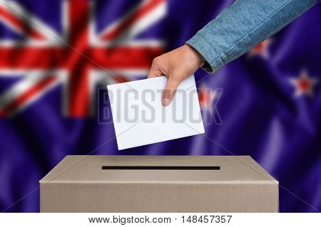 Election In New Zeland - Voting At The Ballot Box