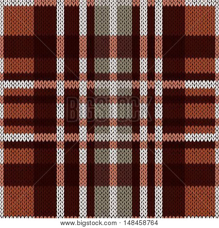 Seamless Pattern As A Knitted Fabric In Brown And Grey Colors