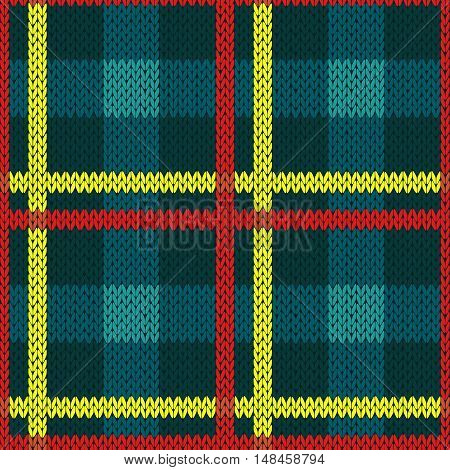 Seamless Pattern In Blue, Yellow And Red Colors