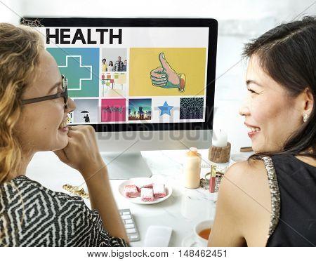 Health Happy Cross Thumbsup Concept