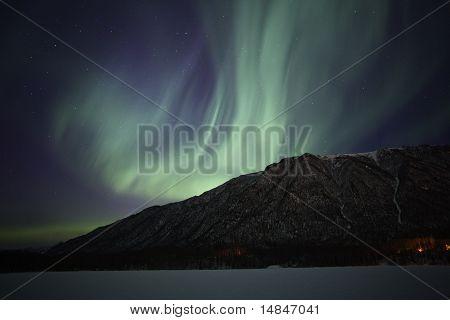 Northern Lights Over Mirror Lake