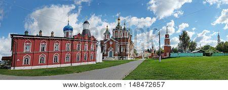KOLOMNA RUSSIA - AUGUST 26 2016: Brusensky Assumption Monastery in the territory of the Kremlin in Kolomna