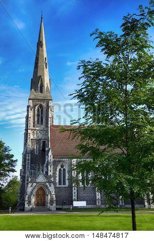 St. Alban's church (Den engelske kirke) in Copenhagen Denmark