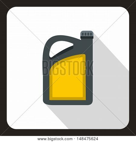 Canister of motor oil icon in flat style on a white background vector illustration