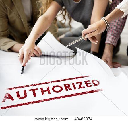 Authorize Allowance Approve Permit Graphic Concept