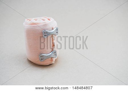 isolated roll of gauze for cure the pain