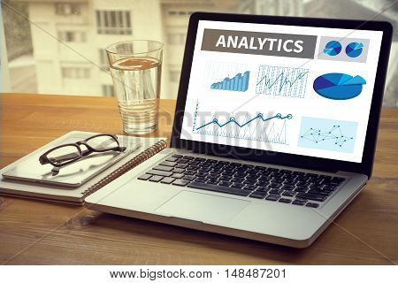 Analytics (analysis Analytic Marketing  Graph Diagram)
