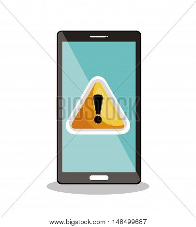 smartphone warning symbol icon desig vector illustration eps 10
