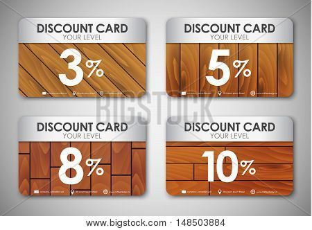 Set Of Wooden Discount Cards