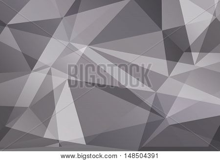 Silver abstract polygonal geometry  background. Vector illustration