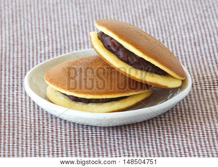 Dorayaki Japanese traditional red - bean pancake dessert