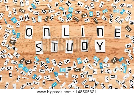 Online Study Words From Cut Out Letters