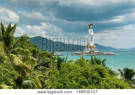 White Guanyin statue in Nanshan Hainan China