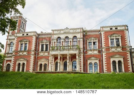 BYKOVO, RUSSIA - MAY 31, 2015: The abandoned estate of Mikhail Izmailov by architect Vasili Bazhenov. M.Izmailov was Moscow governor in 1796-1797 years.