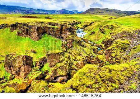 Landscape near the Skoga River - South Iceland