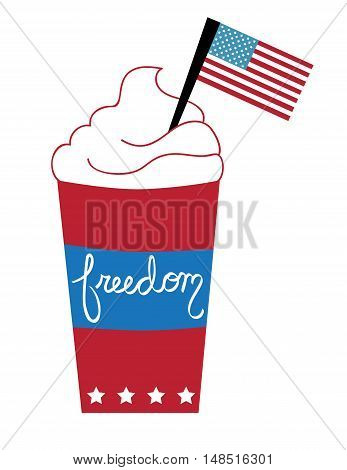 Red White Blue American Freedom Flag Coffee