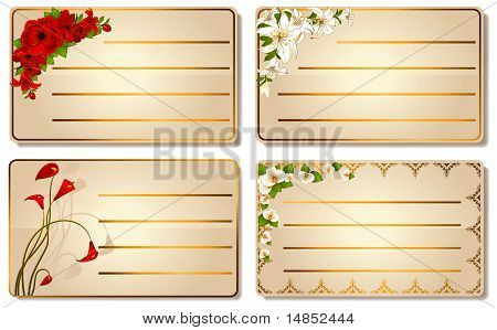 visiting-card with beautiful flowers