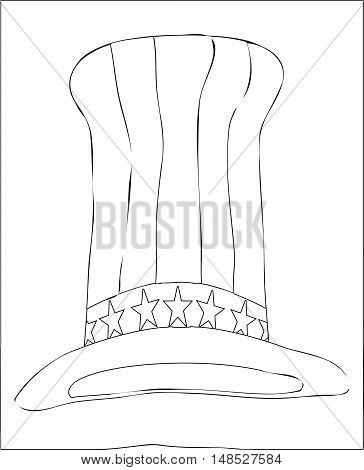 Black and white Uncle Sam style top hat