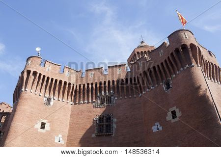 Castle Of Perpignan And The Tower In Summer In France