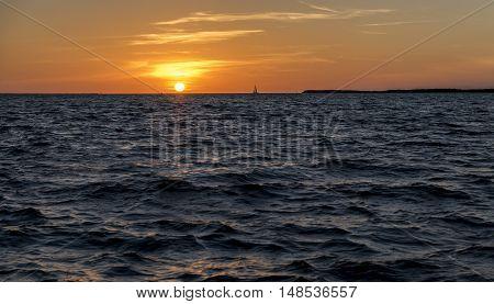 Beautiful sunset in Key Largo, Florida keys, USA