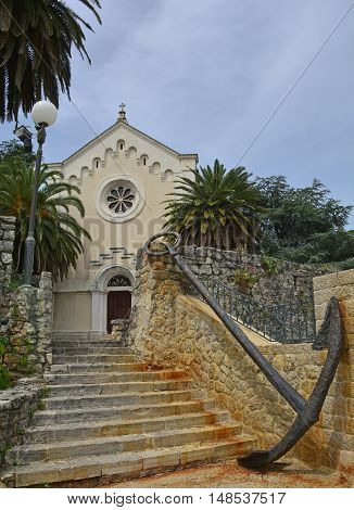 The Catholic Church of St Jerome in old town Heceg Novi is dedicated to the patron saint of the town and was built in 1856 on the site of a previous church.