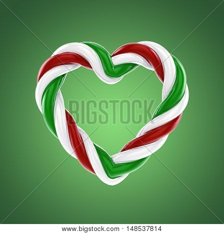 Heart shaped candy , Valentine's day , 3d illustration