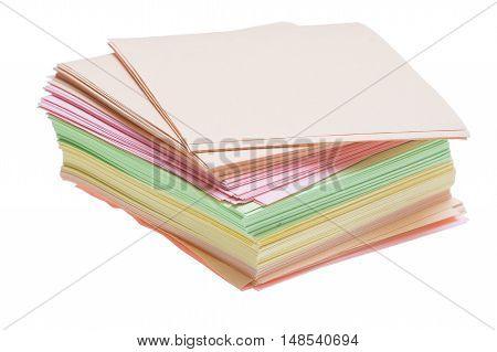 The Color Stick Paper Which Is Sticking Out Of A Pile