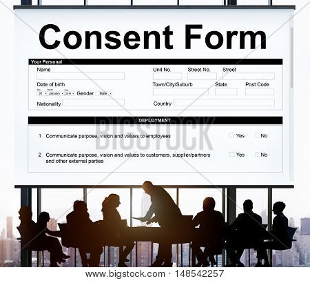 Consent Form Health care Medical Hospital Concept