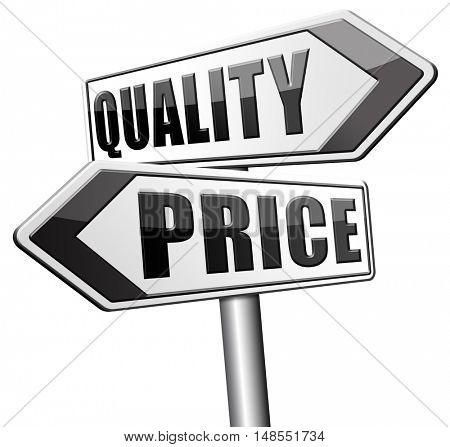 price quality balance for product best and top or premium qualities cheap  3D, illustration