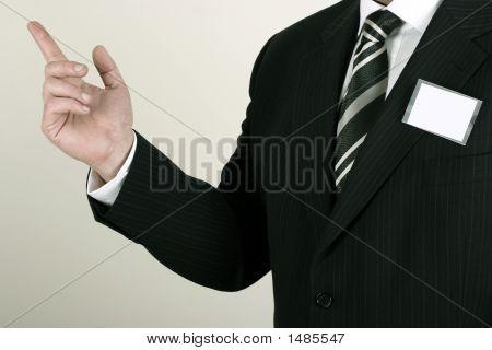 Salesman Making A Point