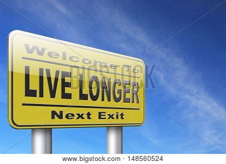 live longer, living a long healthy live using the fountain of youth and being eternal young 3D, illustration