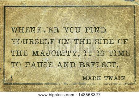 Majority Mark Twain