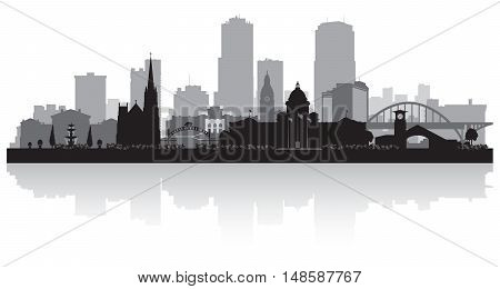 Little Rock Arkansas City Skyline Silhouette