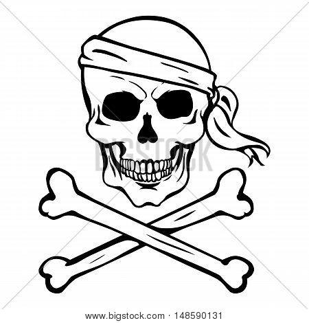 Vector Lineart Skull