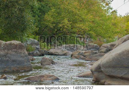 rocky canyon on the river Tikich Mountain near the village of Buki
