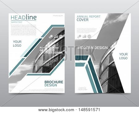 Annual report cover. Brochure design. Flyer template. Vector leaflet layout. Presentation template in a4 size. Modern technology design, eps 10