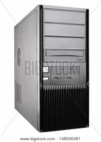 personal computer system bloc computer case isolated on white