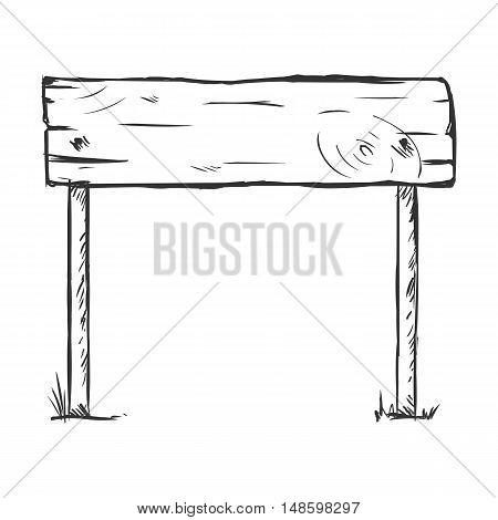 Vector Single Sketch Signpost