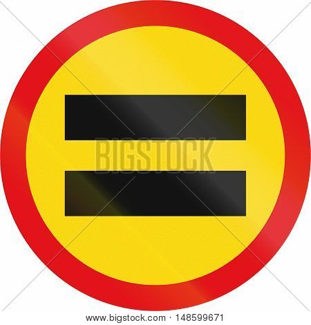 Temporary Road Sign Used In The African Country Of Botswana - Unauthorised Vehicles Prohibited