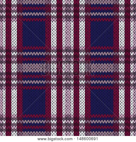 Seamless Knitted Pattern In Contrast Colors