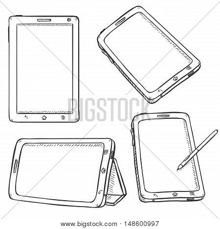 Vector Set Of Tablet Pc