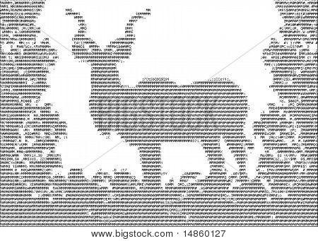 Kudu (koedoe) In Ascii Characters