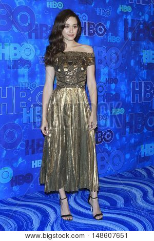 LOS ANGELES - SEP 18:  Emmy Rossum at the 2016  HBO Emmy After Party at the Pacific Design Center on September 18, 2016 in West Hollywood, CA