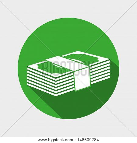 money bills wad icon design vector illustration eps 10