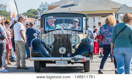 Antique Car In The Street