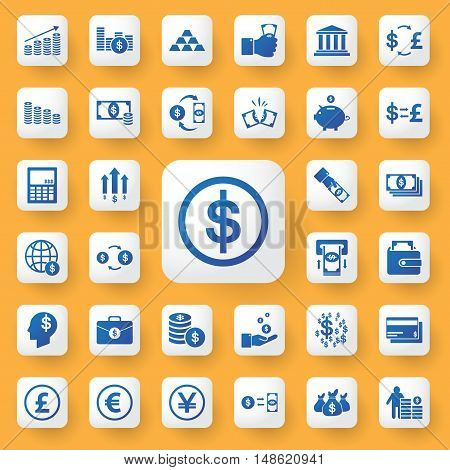 App Icon Money And Business Icons Set. Vector Illustration.icybmoney